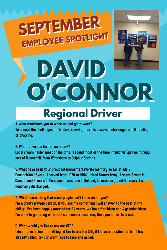 September Employee Spotlight - David O'Connor