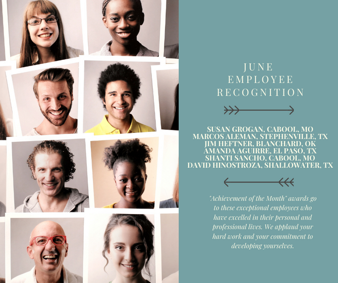 June Employee Recognition