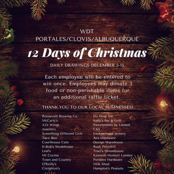 WDT Portales - 12 Days of Christmas