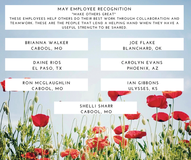 WDT May Employee Recognition