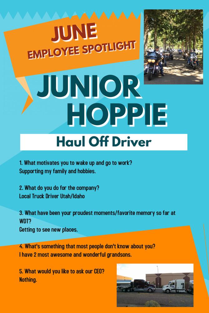 June Employee Spotlight - Junior Hoppie