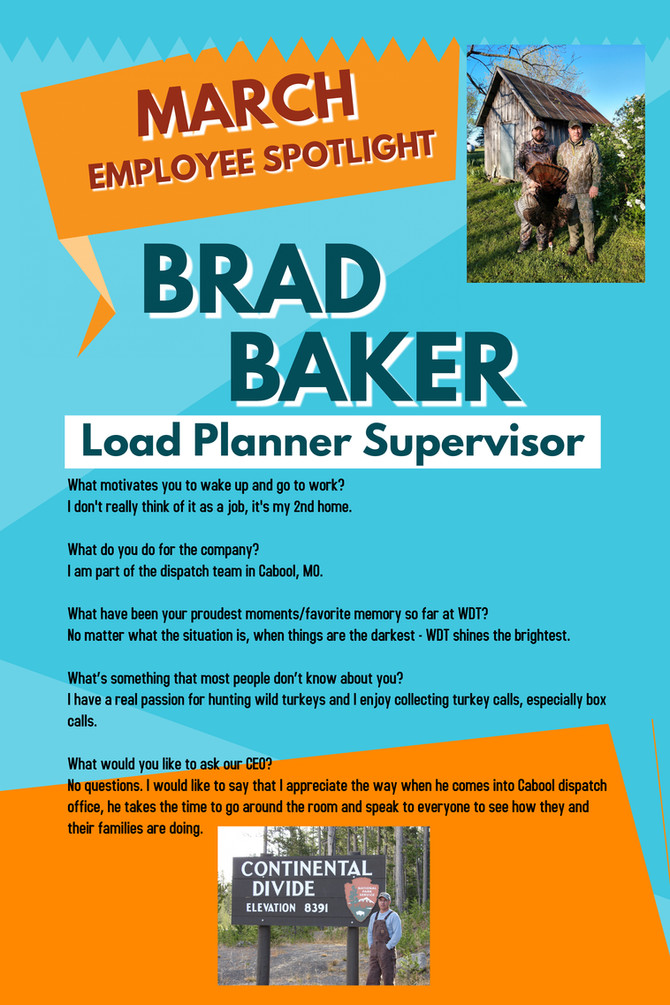 March Employee Spotlight - Brad Baker
