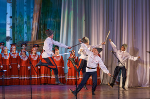 ХХ Краевой фестиваль казачьей песни в Железногорске