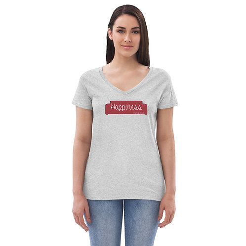 Happiness - Women's Recycled V-neck T-shirt