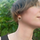 Thumbnail: New Moon in Libra - Sterling Silver and Copper Stud Hoop Earrings