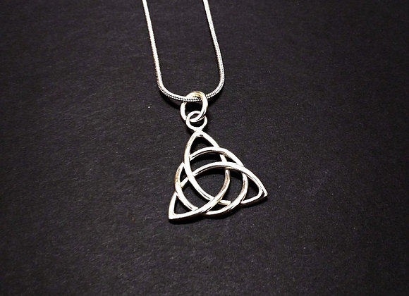 Sterling Silver Handwoven Triquetra w/Chain