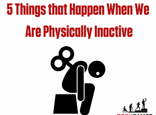 5 Things that Happen When We Are Physically Inactive