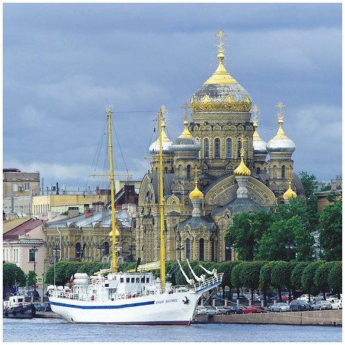 """Photo encadrée """"St-Pétersbourg, presqu'île Vassiliev"""" Edition originale N°1/3"""