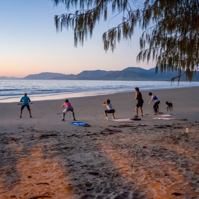 Exercise at sunrise