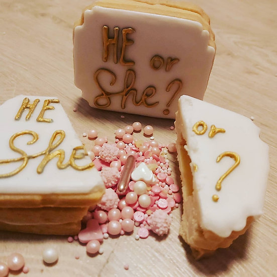 Gender reveal koekjes