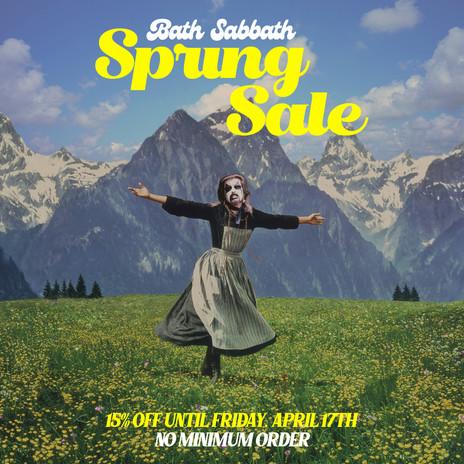 Bath Sabbath Spring Sale