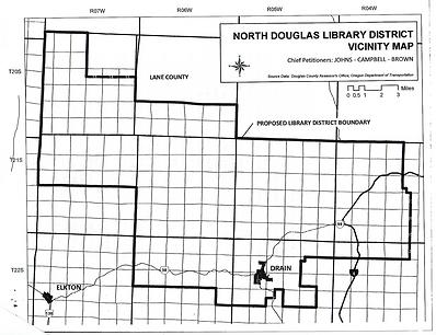 North Douglas Libray District Boundaries