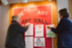 FOL members creating a bulletin board