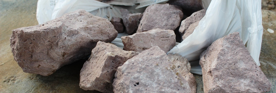 Rocks from Construction of park.