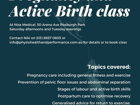 Pregnancy and Active Birth Classes