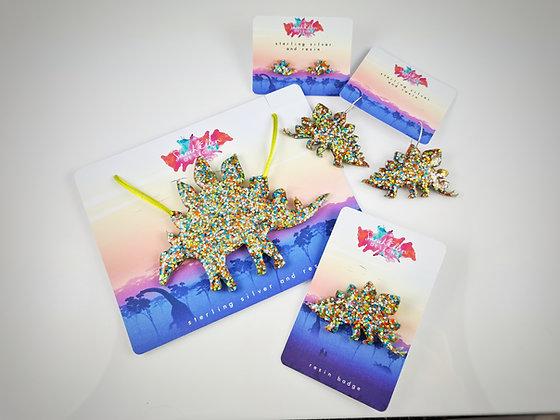 Stegosaurus Dinosaur Jewellery Bundle SED