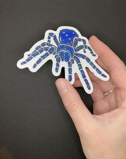 Holographic Cobalt Blue Tarantula Sticker