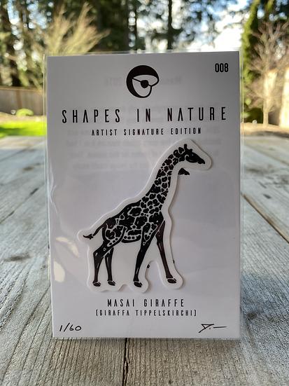 Masai Giraffe Sticker Black Edition