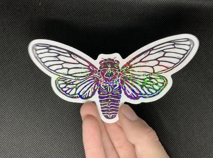 Glittery Cicada Sticker
