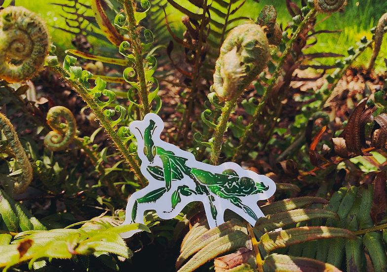 Ghost Mantis Sticker
