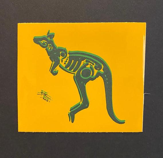 Kangaroo hand printed 3 (20 pts)