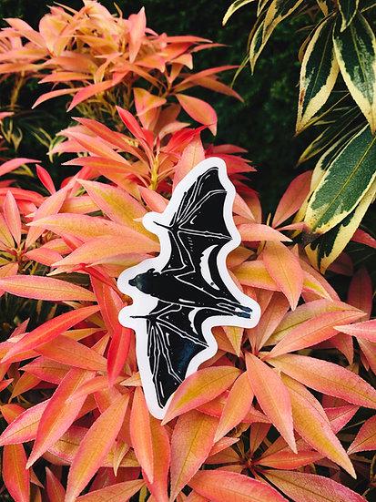 Black Flying Fox Sticker