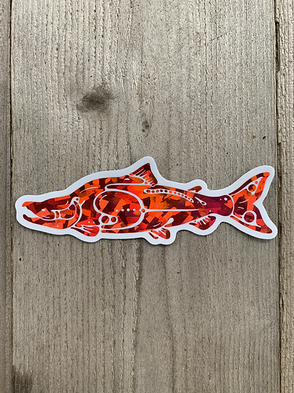 Prism Sockeye Salmon Sticker