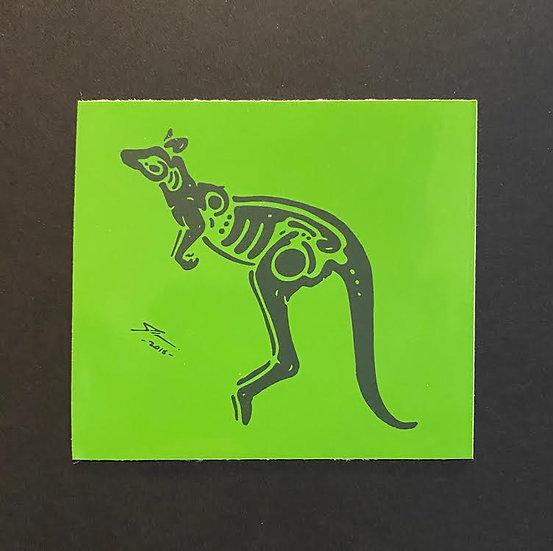 Kangaroo hand printed 4 (20 pts)
