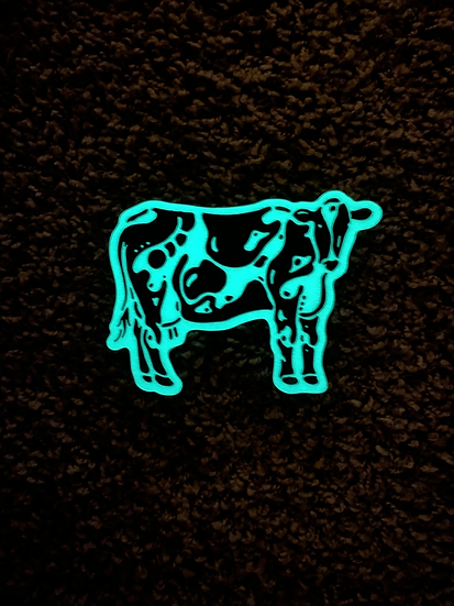 Glow In The Dark Holstein Cow Sticker