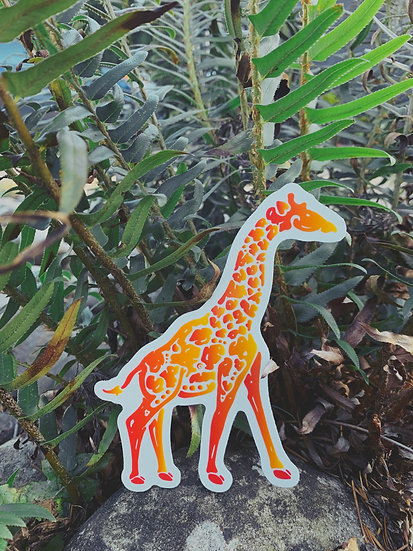 Masai Giraffe Sticker