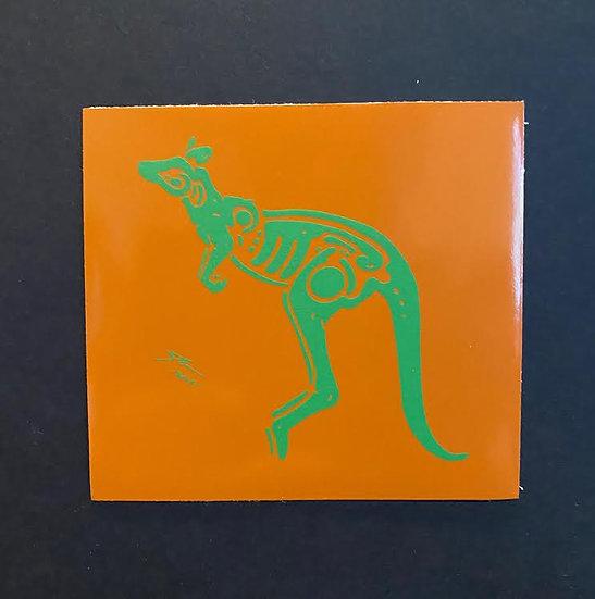 Kangaroo hand printed 5 (20 pts)