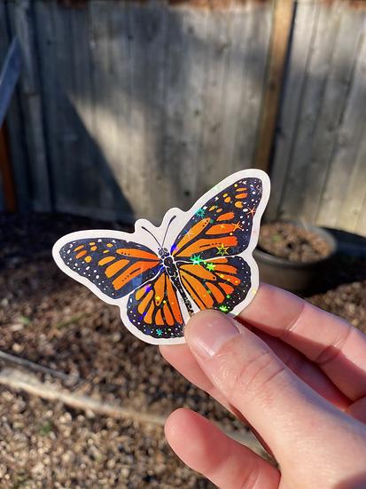 Cosmic Monarch Butterfly Sticker