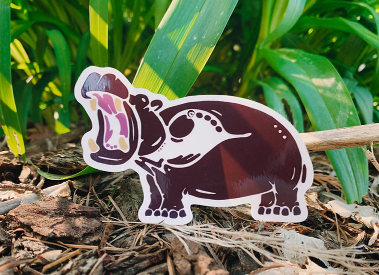 Hippopotamus Sticker