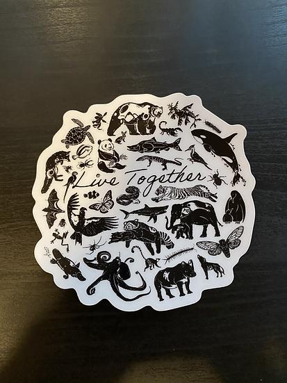 Live Together Sticker