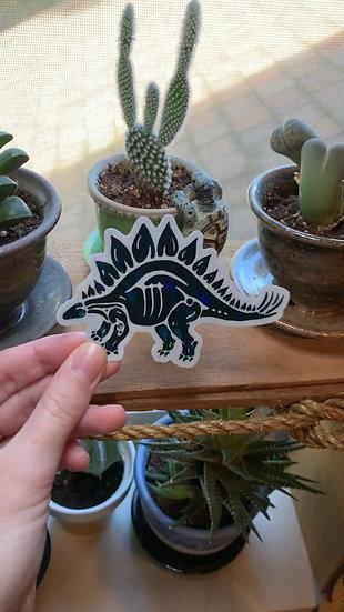 Prism Stegosaurus Sticker