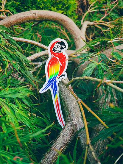 Scarlet Macaw Sticker