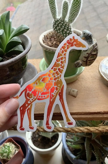 Holographic Masai Giraffe Sticker