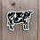 Thumbnail: Glow In The Dark Holstein Cow Sticker