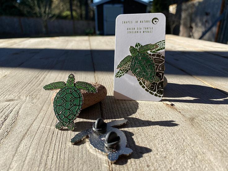 Green Sea Turtle Hard Enamel Pin