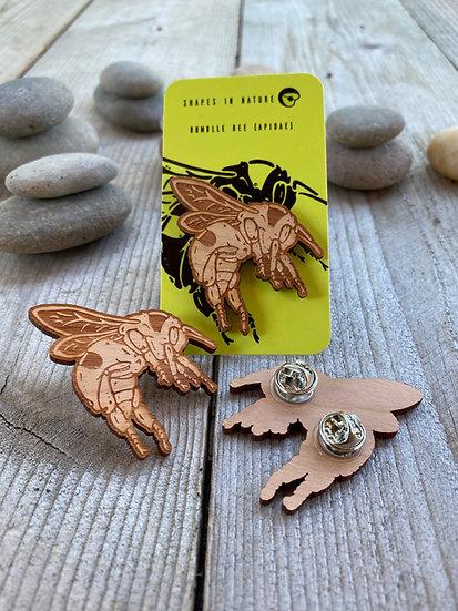 Bumble Bee Wood Pin