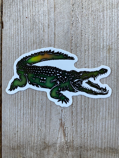 Holographic Saltwater Crocodile