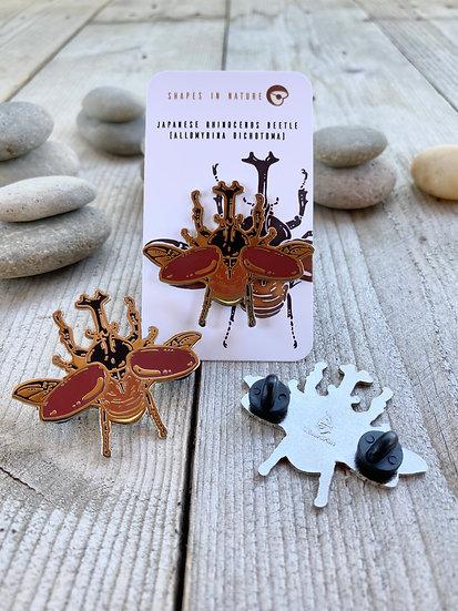 Japanese Rhino Beetle Pin