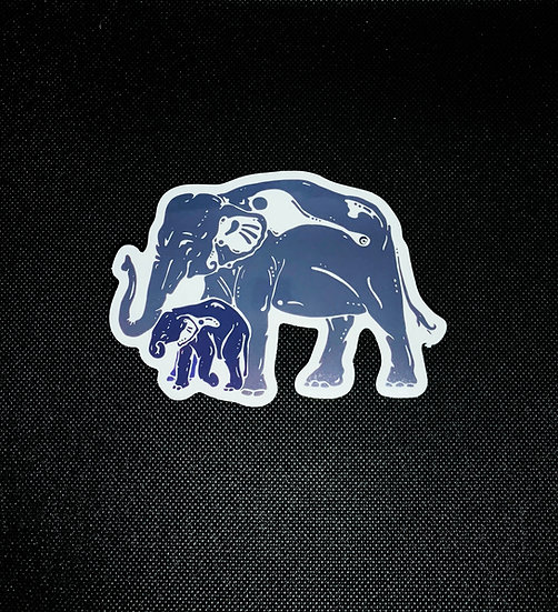 Elephant with Baby Sticker