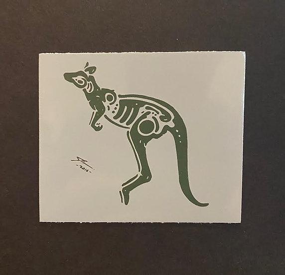 Kangaroo hand printed 1 (20 pts)