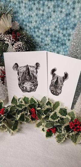 Black Rhino W/ Calf Print Set