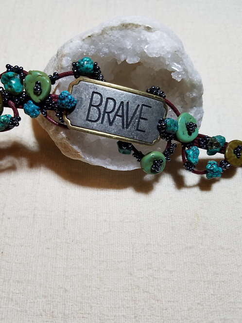 Brave with Turquoise Bracelet