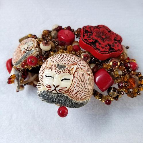 cats cuff bracelet