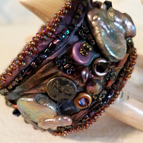 Stream of Pearls Cuff Bracelet view 2