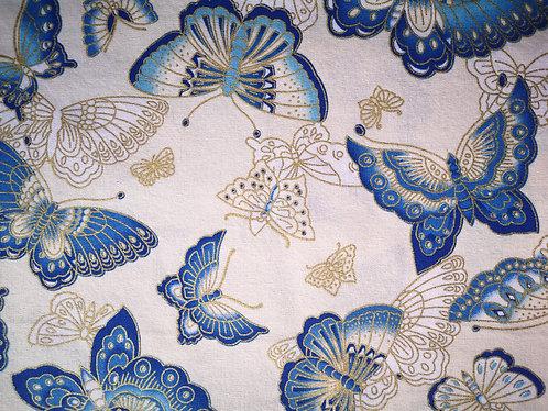 Papillon bleu et blanc