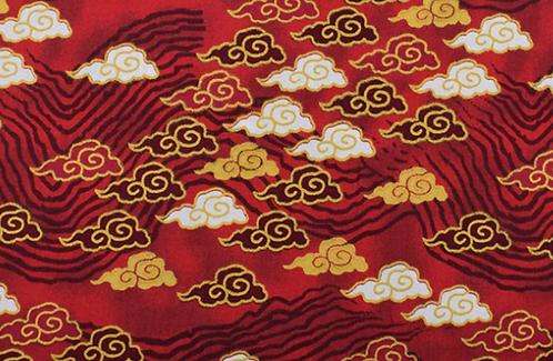 Nuage Japonais rouge
